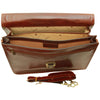 Laptop Briefcase - Brown - Italian Calfskin Leather