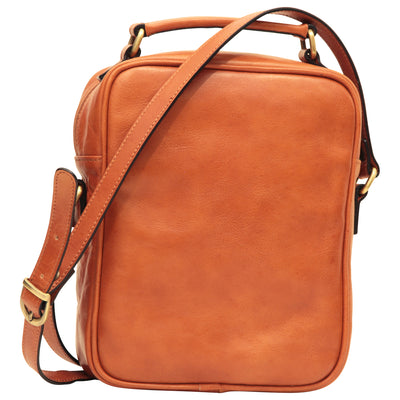 Shoulder Bag With Front Pocket - Colonial - Italian Calfskin Leather