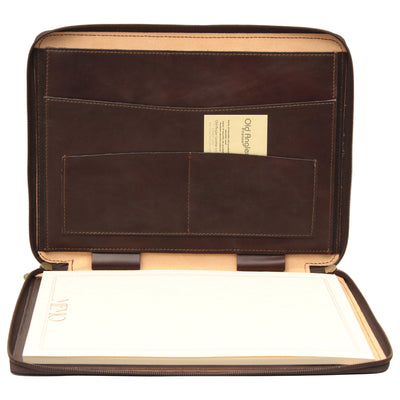 Portfolio - Dark Brown - Italian Calfskin Leather