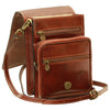 Cross Body Satchel – Brown - Italian Calfskin Leather