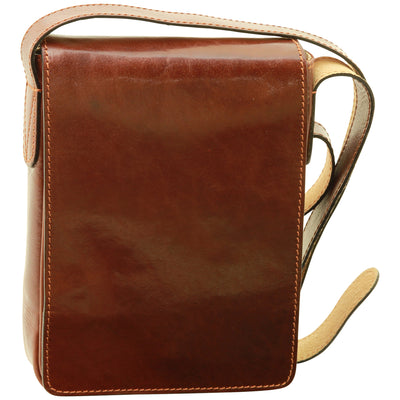 Cross Body Bag - Brown - Italian Calfskin Leather