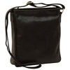 cross body bag with two outside zip pockets - Black - Italian Calfskin Leather