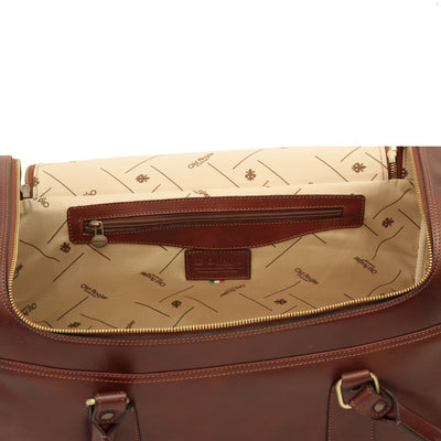 Travel Bag - Brown - Italian Calfskin Leather