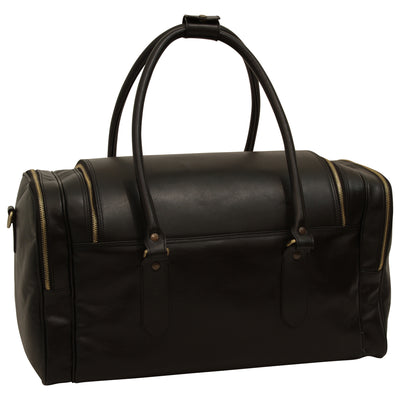 Travel Bag - Black - Italian Calfskin Leather