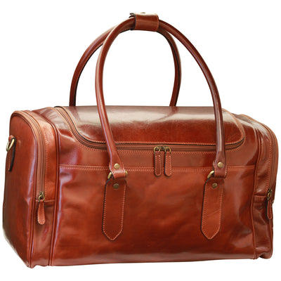 Arno Leather Travel Bag – Brown  - 54cm