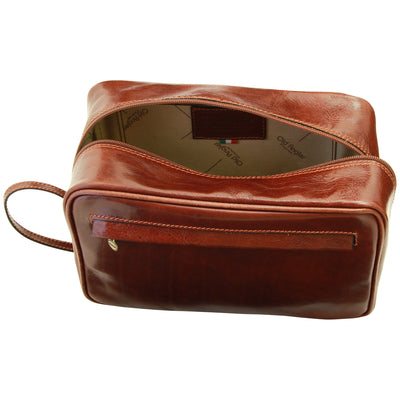 Beauty Kit - Brown - Italian Calfskin Leather