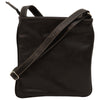 cross body bag with zip pocket - Black - Italian Calfskin Leather