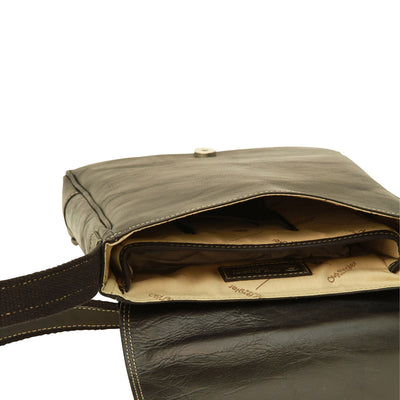 I-Pad bag - Black - Italian Calfskin Leather
