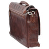Laptop Briefacase - Chestnut - Italian Calfskin Leather