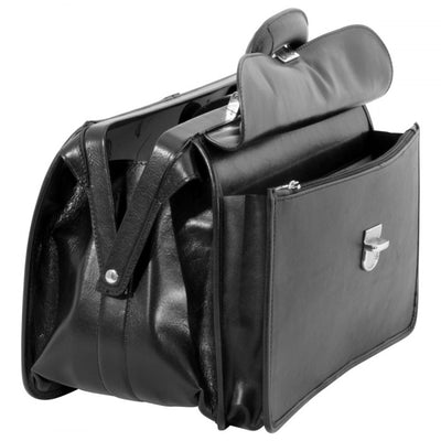 Doctors Bag – Black- Italian Calfskin Leather