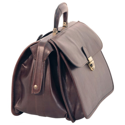 Doctors Bag – Dark Brown - Italian Calfskin Leather