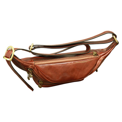 Fanny Pack - Brown - Italian Calfskin Leather