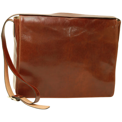 Messenger Bag – Brown - Italian Calfskin Leather