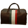 Duffle Bag - Dark Brown - Italian Calfskin Leather