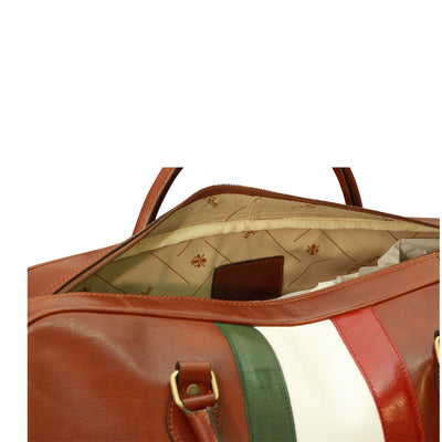 Duffle Bag - Chestnut - Italian Calfskin Leather