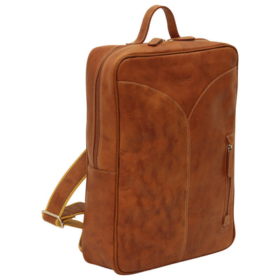Laptop backpack - Colonial - Italian Calfskin Leather