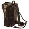Laptop backpack - Black - Italian Calfskin Leather