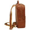 Backpack with 2 exterior zip pockets - Colonial - Italian Calfskin Leather