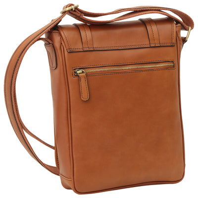 Bag With Double Magnetic Closure - Colonial - Italian Calfskin Leather