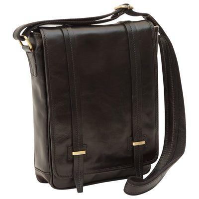 Bag With Double Magnetic Closure - Black - Italian Calfskin Leather