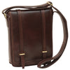 Bag With Double Magnetic Closure - Dark Brown - Italian Calfskin Leather