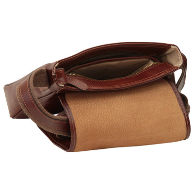 Bag With Magnetic Closure - Brown - Italian Calfskin Leather