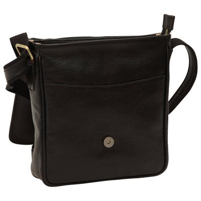 Bag With Magnetic Closure - Black - Italian Calfskin Leather