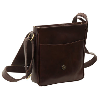 Bag With Magnetic Closure - Dark Brown - Italian Calfskin Leather