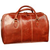 Duffel Bag With Zip Closure - Brown - Italian Calfskin Leather