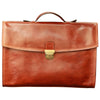 Briefcase - Brown - Italian Calfskin Leather - 38 x 28 x 6