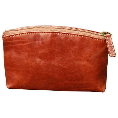 Beauty Case 16cm - Brown - Italian Calfskin Leather