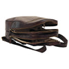 Backpack With Exterior Zip Pockets - Dark Brown - Italian Calfskin Leather