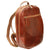 Backpack With Exterior Zip Pockets - Brown - Italian Calfskin Leather