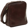 Bag With Zip Closures - Dark Brown - Italian Calfskin Leather