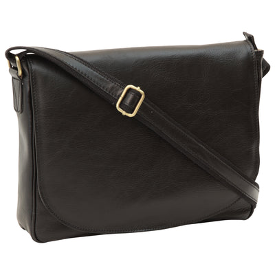 Messenger - Black - Italian Calfskin Leather