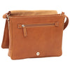 Messenger with frontal zip closure - Colonial - Italian Buffalo Leather