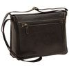 Messenger with frontal zip closure - Black - Italian Buffalo Leather