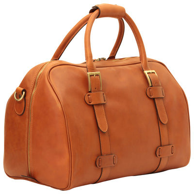 Duffle Bag - Brown Colonial - Italian Calfskin Leather