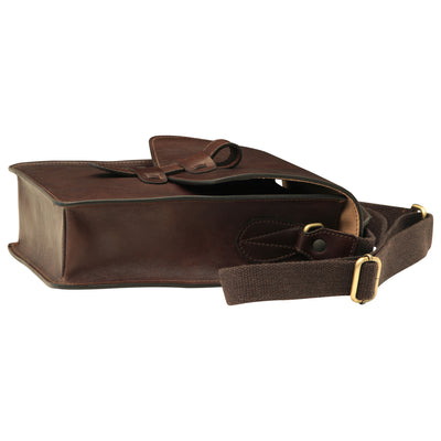 Messenger Bag - Dark Brown - Italian Calfskin Leather