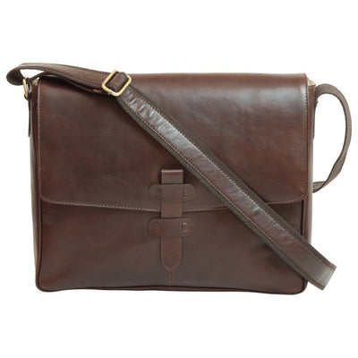 Messenger - Dark Brown - Italian Calfskin Leather