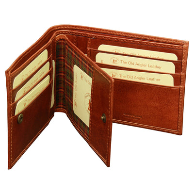 Three Part Wallet - Brown - Italian Calfskin Leather