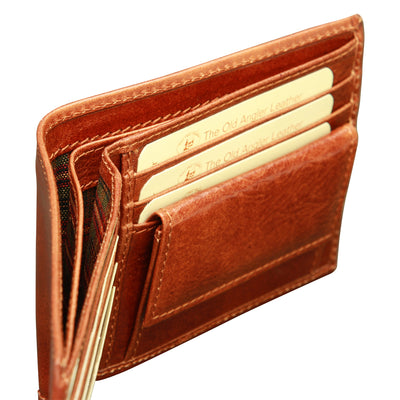 Wallet With Coin Pocket - Brown - Italian Calfskin Leather