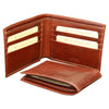 Wallet For Men - Brown - Italian Calfskin Leather