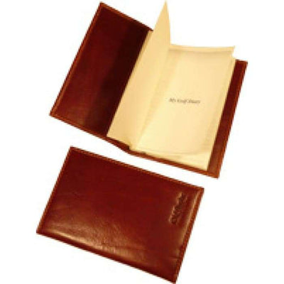 Golf Diary - Brown - Italian Calfskin Leather