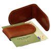 Money Clip - Brown - Italian Calfskin Leather
