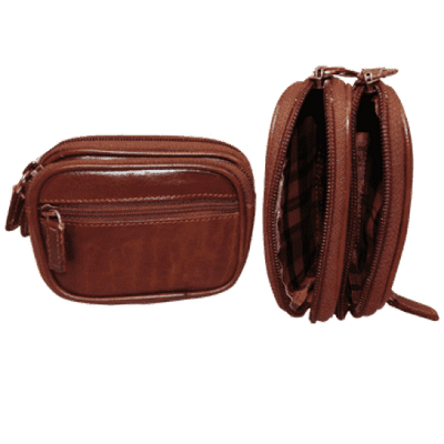 Belt Case - Brown - Italian Calfskin Leather