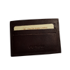 Card Holder - Dark Brown - Italian Calfskin Leather