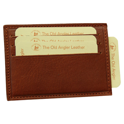 Card Holder With Paperweight Spring - Brown - Italian Calfskin Leather