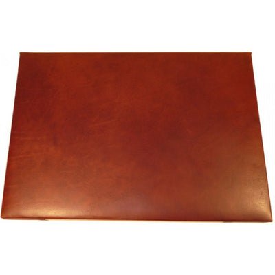 Leather Desk Pad - Brown - Italian Calfskin Leather