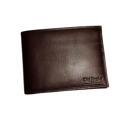 Bifold Wallet - 8 Card - Dark Brown - Italian Calfskin Leather